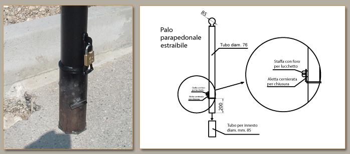 ARREDO URBANO - PALO PARAPEDONALE ART. 181 - Rizzo B&G