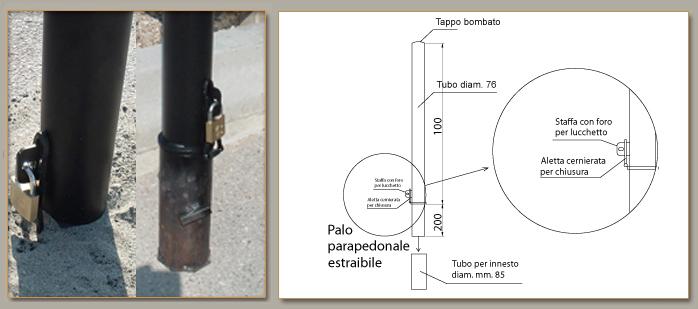 ARREDO URBANO - PALO PARAPEDONALE ART. 180 - Rizzo B&G