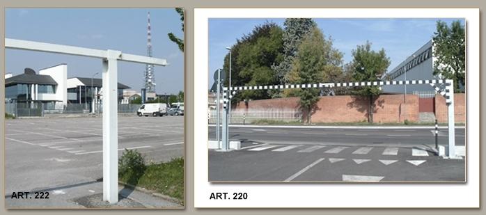 ARREDO URBANO - DISSUASORI PER FURGONI E CAMPER Art. 220-221-222